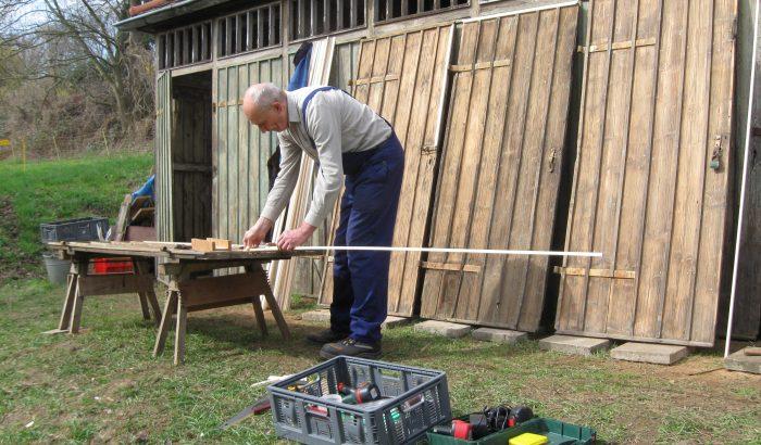 08_neue Holzleisten für die Türen